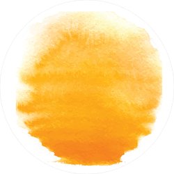 Orange Watercolor Sun Sticker