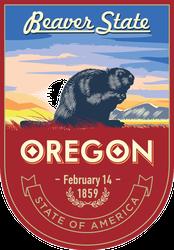Oregon Banner Sticker