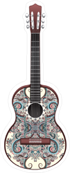 Oriental Pattern Guitar Sticker