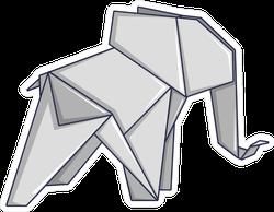 Origami Elephant Sticker