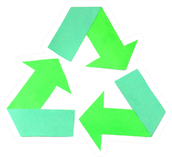 Origami Paper Art Of Recycling Symbol Sticker
