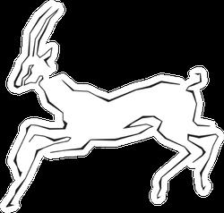 Original Sharp Lines Make Up Antelope Silhouette Sticker