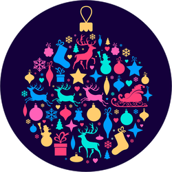 Ornament Made From Christmas Elements Sticker