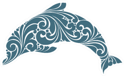 Ornamental Decorative Dolphin Sticker