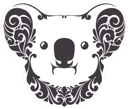 Ornamental Decorative Koala Sticker
