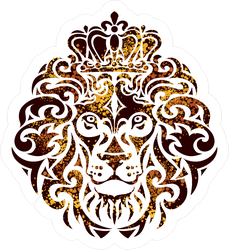 Ornamental Decorative Lion Head Sticker