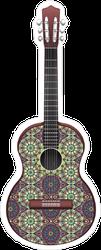 Ornamental Guitar Sticker
