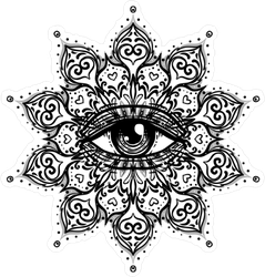 Ornate All Seeing Eye Mandala Boho Sticker