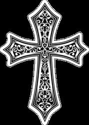 Ornate Christian Celtic Cross Sticker