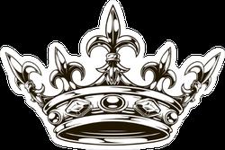 Ornate Crown Sticker