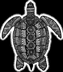 Ornate Hand Drawn Turtle Sticker