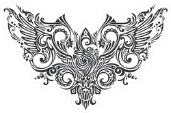 Ornate Tribal Wings Sticker