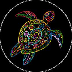 Ornate Turtle Sticker