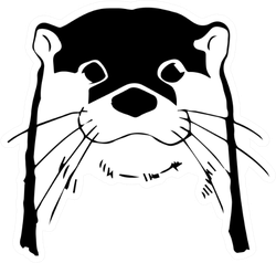 Otter Head Illustration Sticker