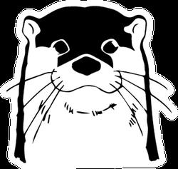 Otter Head Illustration Sticker