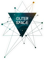 Outer Space Scientific Design Sticker