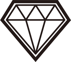 Outlined Diamond Vector Icon Sticker