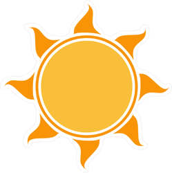 Outlined Sun Sticker