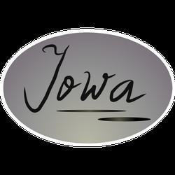 Oval Lettering Iowa Sticker