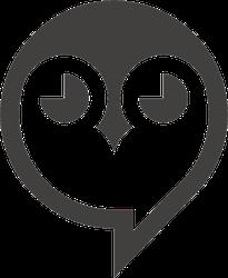 Owl Head Icon Logo Sticker