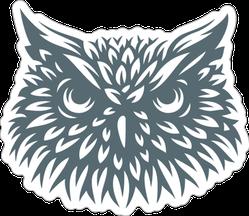 Owl Head Sticker
