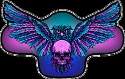 Owl Holding Skull Sticker