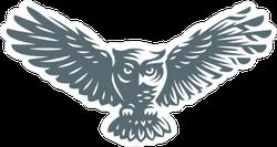 Owl in Shadow Sticker