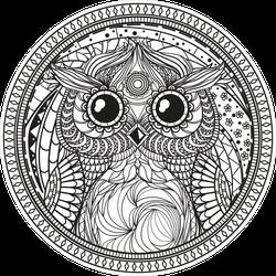 Owl Mandala Sticker
