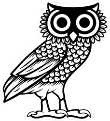 Owl of Athena Sticker