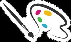 Paint Logo Artist Sticker