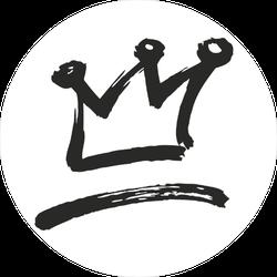 Painted Crown Symbol Sticker