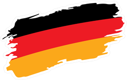 Painted Germany Flag Sticker