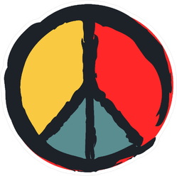 Painted Peace Sign Sticker