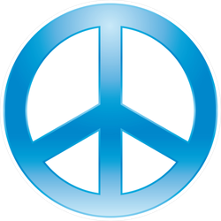 Painted Peace Symbol Sticker