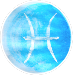 Painted Pisces Sticker