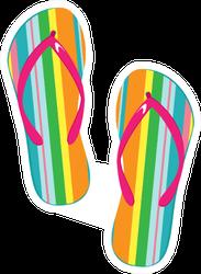 Pair Of Colorful Flip Flops Sticker