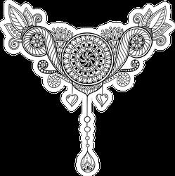 Paisley Mehndi Doodle Tribal Sticker