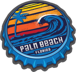 Palm Beach Florida Bottle Cap Sticker