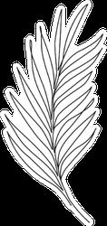 Palm Leaf Line Art Contour Drawing Sticker