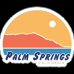 Palm Springs California Sunset Sticker