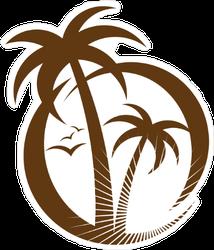 Palm Tree Emblem Sticker