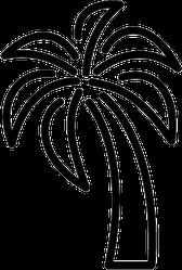 Palm Tree Outline Icon Sticker