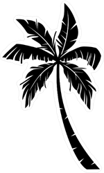 Palm Tree Vector Sticker