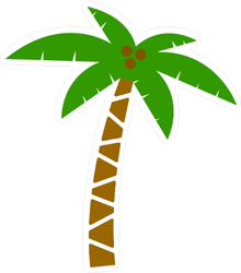 Palm Tree with Coconuts Sticker