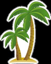 Palm Trees on the Beach Sticker