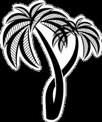 Palm Trees Silhouette Sticker