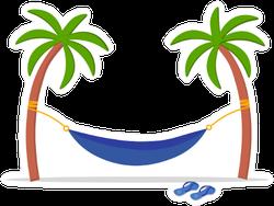 Palm Trees with Hammock Sticker