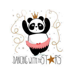 Panda Dancing With The Stars Sticker