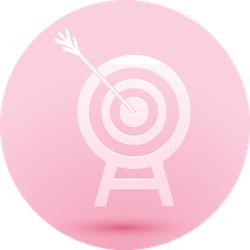 Paper Cut Archery Target With Arrow Icon Pink Sticker