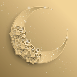 Paper Graphic of Crescent Moon Sticker